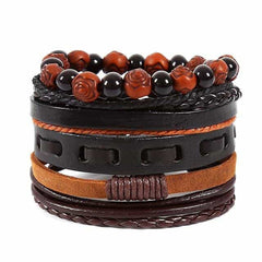 Leather Punk Charm Men Leather Bracelet, type 28, type 28, [option2], [option3] - anythinganyware