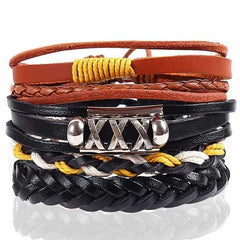 Leather Punk Charm Men Leather Bracelet, type 27, type 27, [option2], [option3] - anythinganyware