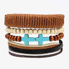 Leather Punk Charm Men Leather Bracelet, type 16, type 16, [option2], [option3] - anythinganyware