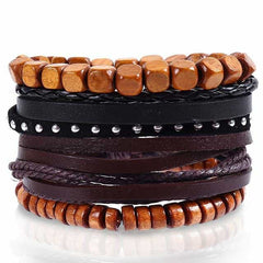 Leather Punk Charm Men Leather Bracelet, type 24, type 24, [option2], [option3] - anythinganyware