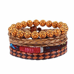 Leather Punk Charm Men Leather Bracelet, type 25, type 25, [option2], [option3] - anythinganyware