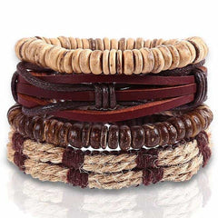 Leather Punk Charm Men Leather Bracelet, type 21, type 21, [option2], [option3] - anythinganyware