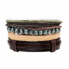 Leather Punk Charm Men Leather Bracelet, type 18, type 18, [option2], [option3] - anythinganyware