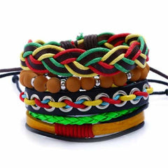 Leather Punk Charm Men Leather Bracelet, HM-70082, HM-70082, [option2], [option3] - anythinganyware