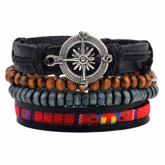 Leather Punk Charm Men Leather Bracelet, type 6, type 6, [option2], [option3] - anythinganyware