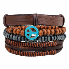 Leather Punk Charm Men Leather Bracelet, type 8, type 8, [option2], [option3] - anythinganyware