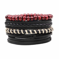 Leather Punk Charm Men Leather Bracelet, type 14, type 14, [option2], [option3] - anythinganyware