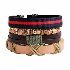 Leather Punk Charm Men Leather Bracelet, type 17, type 17, [option2], [option3] - anythinganyware