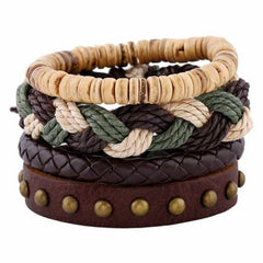 Leather Punk Charm Men Leather Bracelet, type 26, type 26, [option2], [option3] - anythinganyware
