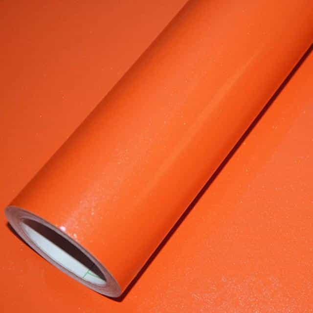 5M DIY Contact Paper PVC Waterproof Self Adhesive Wallpaper, Orange / China / 60cm X 5m, Orange, China, 60cm X 5m - anythinganyware