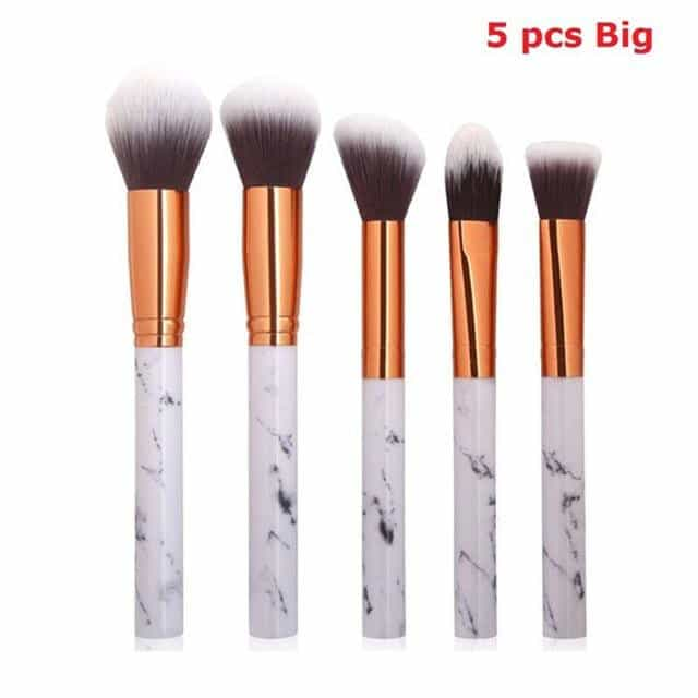5PCS Marmer Patten Make Borstel voor Cosmetische Poeder Foundation, 5PCS BIG, 5PCS BIG, [option2], [option3] - anythinganyware
