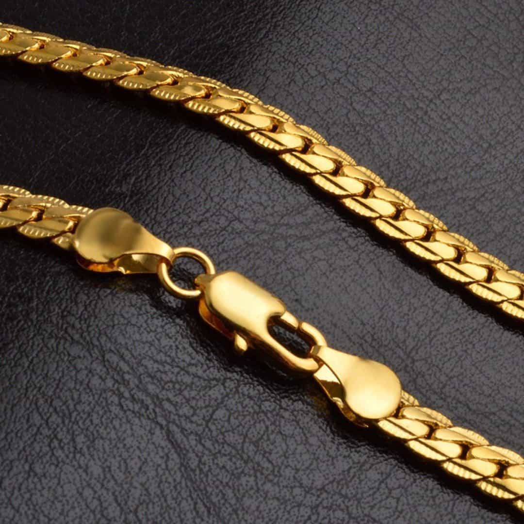 5mm Shellhard Unisex Cuban Curb Link Chain, [variant_title], [option1], [option2], [option3] - anythinganyware