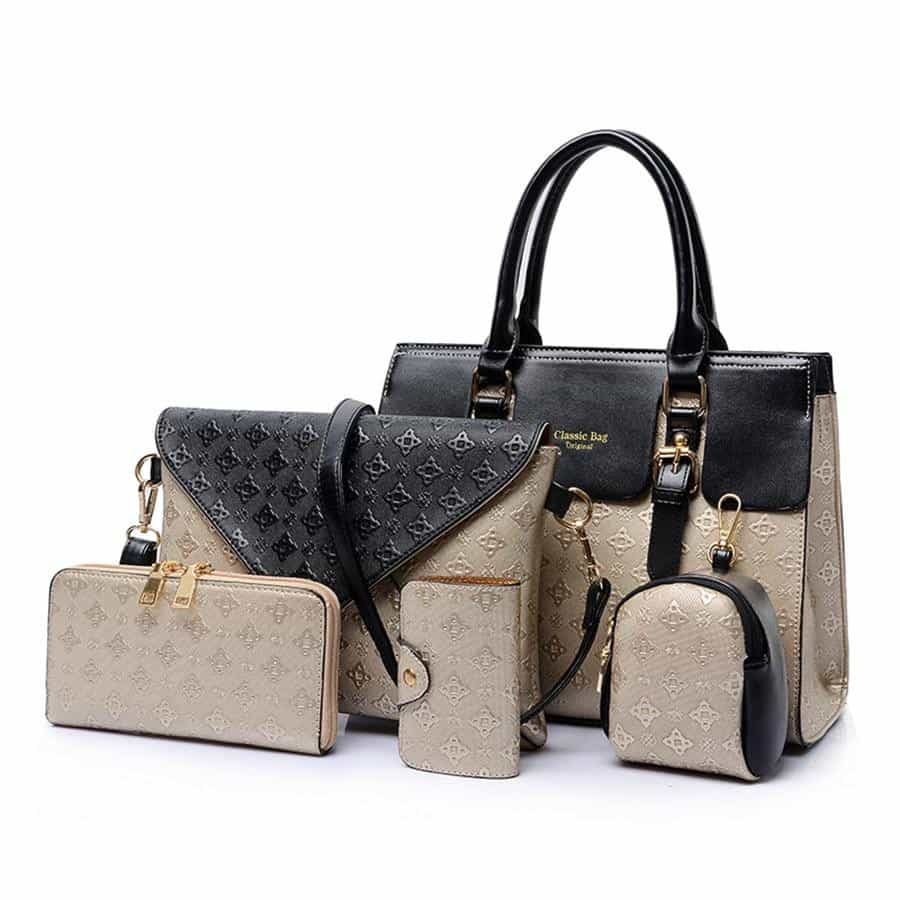5pcs Bag Set For Women Luxury Handbags Leather, [variant_title], [option1], [option2], [option3] - anythinganyware