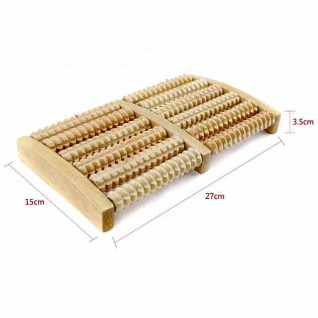 6 Raw Wooden Foot Roller Wood Care Massage, 6 Raw, 6 Raw, [option2], [option3] - anythinganyware