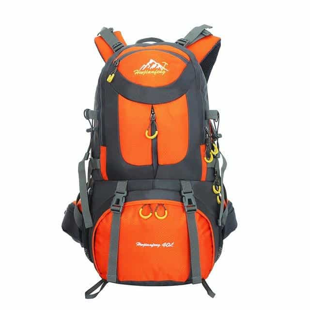 men waterproof backpack travel pack sports bag, Orange / 40L, Orange, 40L, [option3] - anythinganyware