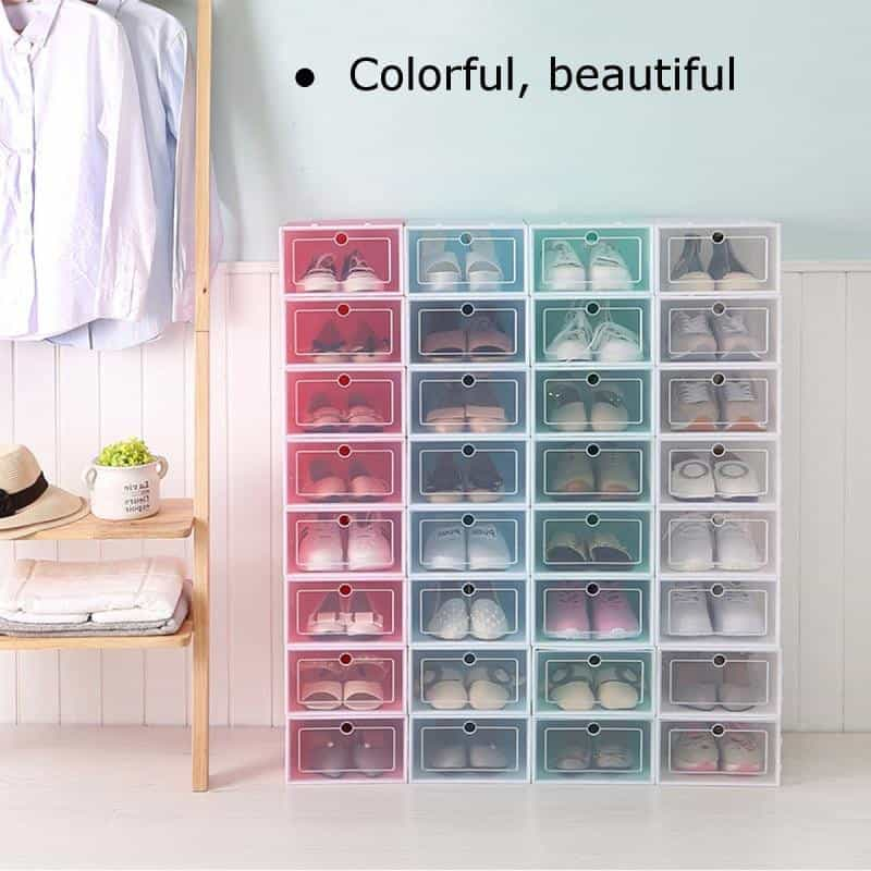 6PCS Multifunction Plastic Shoe Boxes, [variant_title], [option1], [option2], [option3] - anythinganyware