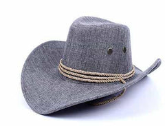 American Western Cowboy Hat, Gray / M, Gray, M, [option3] - anythinganyware
