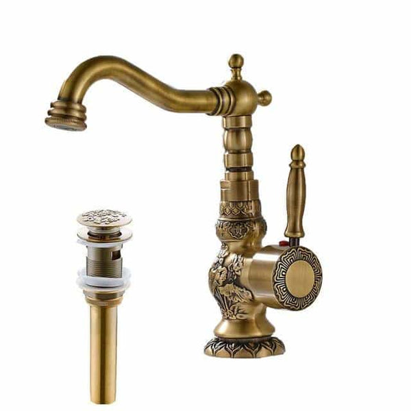 Single Handle Mixer Tap, Short Type and Drain / China, Short Type and Drain, China, [option3] - anythinganyware