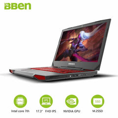 BBEN G17 Game Computer 17.3 Inch Windows10 Intel I7 7700HQ  8 RAM, China / Pro Win10 Activated, China, Pro Win10 Activated, [option3] - anythinganyware