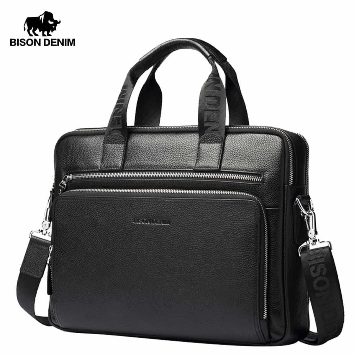 "Genuine leather Briefcases 14"" Laptop Handbag, [variant_title], [option1], [option2], [option3] - anythinganyware"