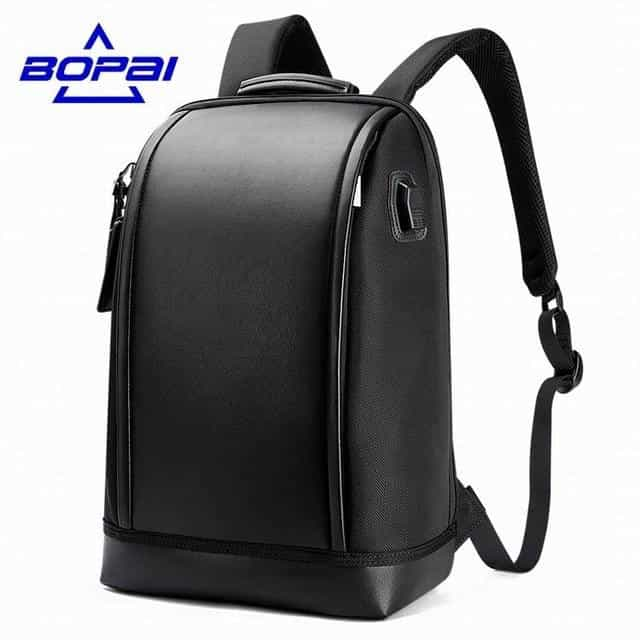 Shell Shape Business Men's Office Work Backpack, Black / China, Black, China, [option3] - anythinganyware