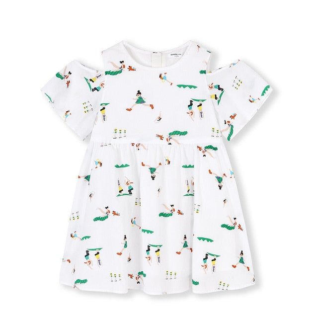 baby girls summer embroidery dresses, White green / 2T, White green, 2T, [option3] - anythinganyware
