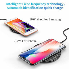 Baseus 10W Qi Wireless Charger for iPhone X/XS Max XR 8 Plus, [variant_title], [option1], [option2], [option3] - anythinganyware