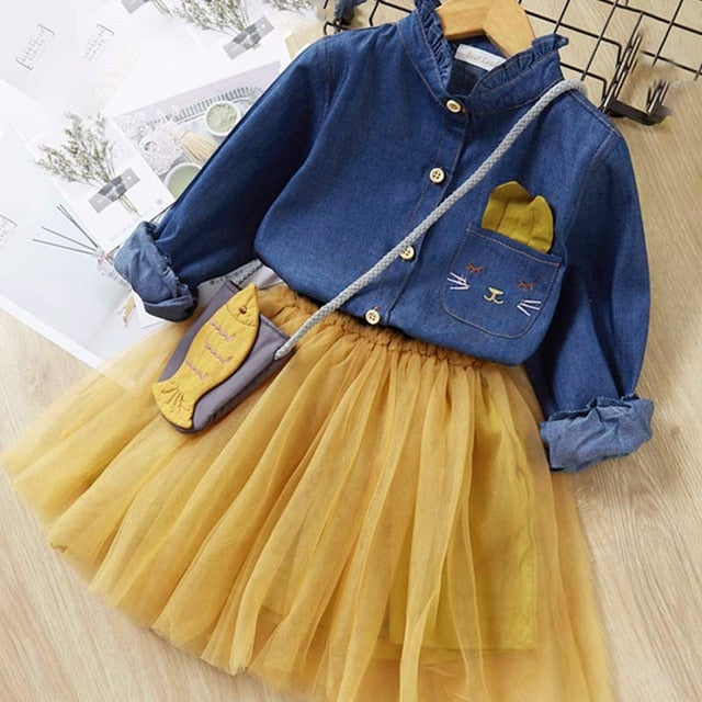 Bear Leader Girls Dress New Brand Girls PArty Dress, Yellow-no bag / 5T, Yellow-no bag, 5T, [option3] - anythinganyware