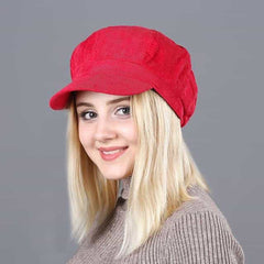 Beret Women's Hats, red, red, [option2], [option3] - anythinganyware
