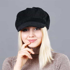 Beret Women's Hats, black, black, [option2], [option3] - anythinganyware