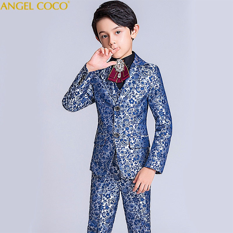 Brand Boys Formal Suit Wedding campus student Dress, 5T, 5T, [option2], [option3] - anythinganyware