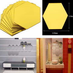 Brand New 3D Mirror Stickers Removable Hexagon, [variant_title], [option1], [option2], [option3] - anythinganyware