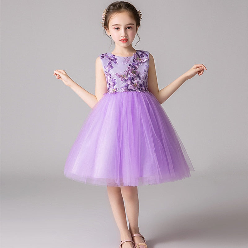 Butterfly Embroidery Applique Lace Princess Party Dress, [variant_title], [option1], [option2], [option3] - anythinganyware