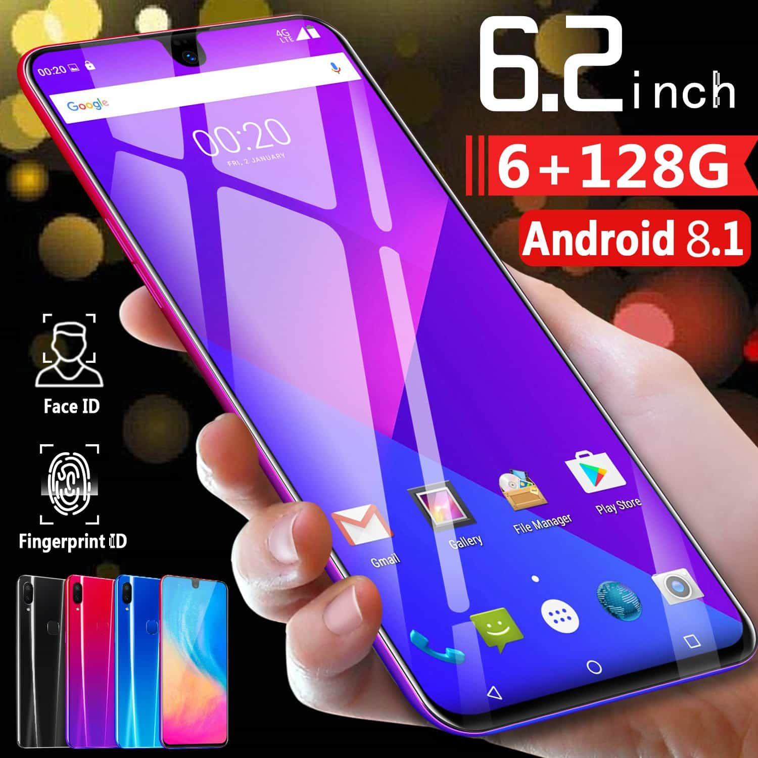 CHAOAI X23 6.2 Inch Smart Cellphone, [variant_title], [option1], [option2], [option3] - anythinganyware