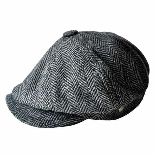 Cap For Men New Newsboy Caps, Black / One Size, Black, One Size, [option3] - anythinganyware