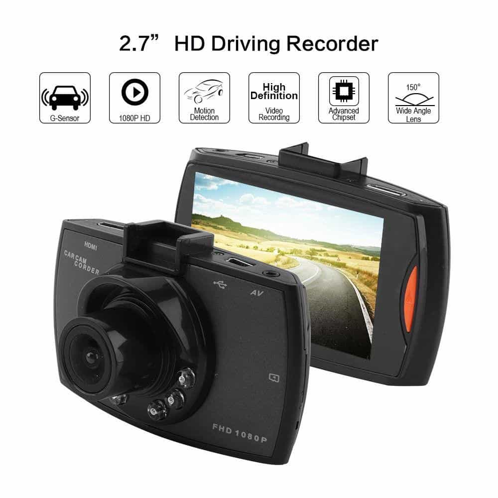 Car DVR Camera Full HD 1080P Night Vision G-Sensor Dash Cam, [variant_title], [option1], [option2], [option3] - anythinganyware