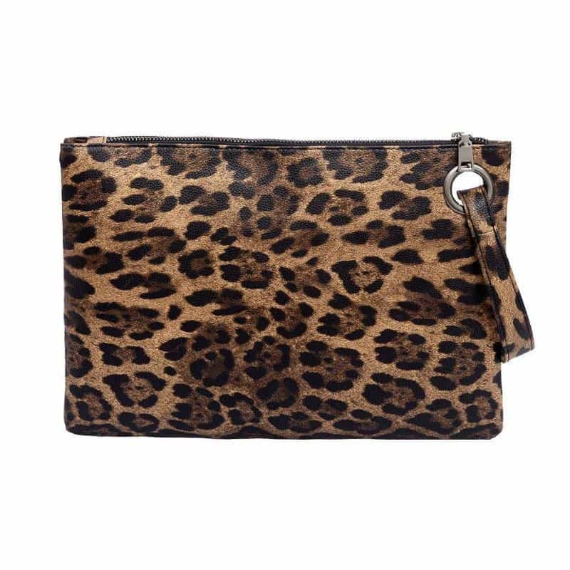 Animal Print Clutch Female Fashion  PU Leather Bag, [variant_title], [option1], [option2], [option3] - anythinganyware