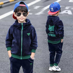 Children Boys Autumn Winter Sports Suit, BLUE / 6T, BLUE, 6T, [option3] - anythinganyware