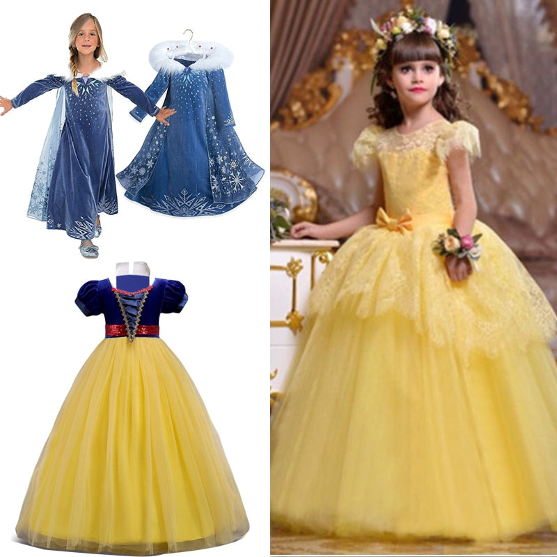 Cinderella Snow White Kids Dresses, [variant_title], [option1], [option2], [option3] - anythinganyware
