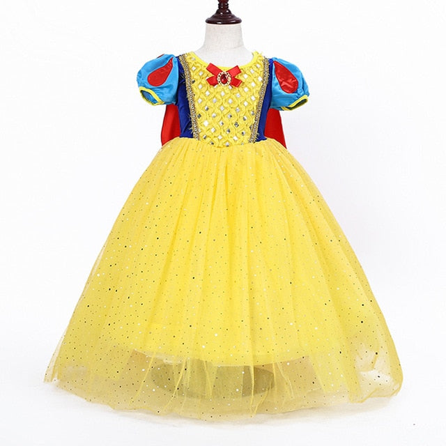 Cinderella Snow White Kids Dresses, Yellow86 / 887, Yellow86, 887, [option3] - anythinganyware