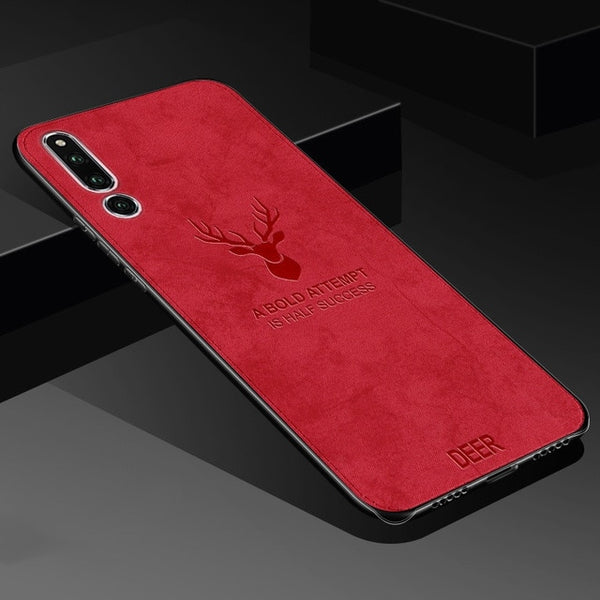 Classic Fabric Case For Samsung galaxy A50 A30 Case, Red / For Samsung A60, Red, For Samsung A60, [option3] - anythinganyware