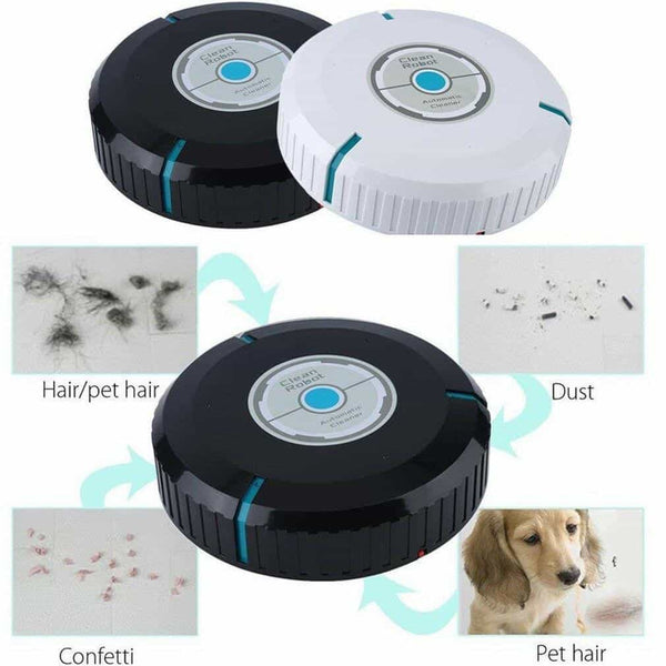 Clean Robot Smart Robot Vacuum Cleaner Automatic Multi-Surface Cleaner, White, White, [option2], [option3] - anythinganyware