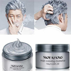 Color Hair Wax Styling Coloring Mud Cream, United States / gray, United States, gray, [option3] - anythinganyware