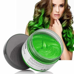 Color Hair Wax Styling Coloring Mud Cream, United States / green, United States, green, [option3] - anythinganyware