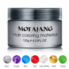 Color Hair Wax Styling Coloring Mud Cream, [variant_title], [option1], [option2], [option3] - anythinganyware