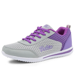 Breathable Women Light Weight Athletic Traning Shoes, Purple / 5 / China, Purple, 5, China - anythinganyware