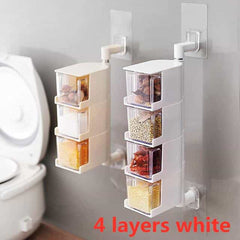 Creative Kitchen Supplies Paste Wall Hanging, White / 4-tier, White, 4-tier, [option3] - anythinganyware