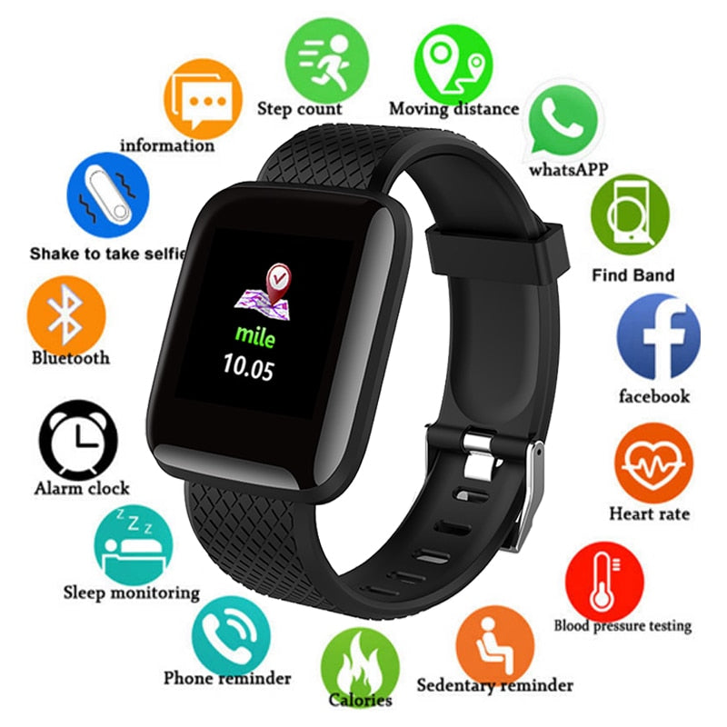 Sport Smart Watch Men Blood Pressure Waterproof Ip67 Smartwatch, [variant_title], [option1], [option2], [option3] - anythinganyware