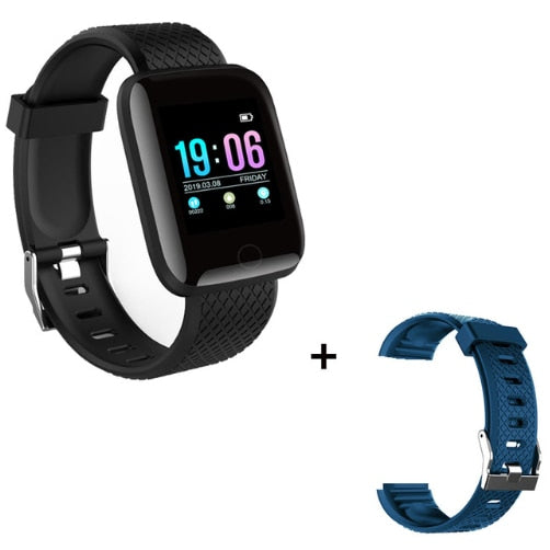 Sport Smart Watch Men Blood Pressure Waterproof Ip67 Smartwatch, black with blue, black with blue, [option2], [option3] - anythinganyware