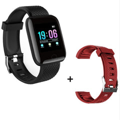 Sport Smart Watch Men Blood Pressure Waterproof Ip67 Smartwatch, black with red, black with red, [option2], [option3] - anythinganyware